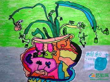 蝴蝶兰 写生植物 儿童画