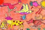 我的动物园儿童画作品欣赏