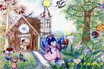 维也纳森林儿童画