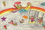 空中乐园儿童画图片