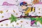 秋意儿童画作品欣赏