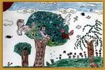 小鸟的家儿童画13幅
