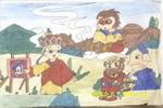 取经路上学绘画儿童画