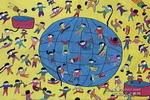 人与地球儿童画作品欣赏