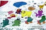动物狂欢节儿童画作品欣赏
