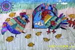 我的大家庭儿童画