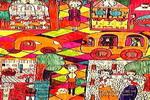 繁华的大街儿童画图片