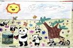 环保小卫士儿童水彩画