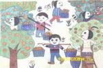 家乡的桔子儿童画