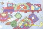 彩色的梦儿童水彩画