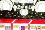 春节快乐儿童画作品欣赏