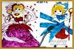 明朗少女儿童画