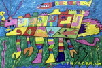 机器鱼儿童画2幅