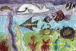美丽的海底世界儿童画4幅