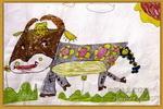 小牛儿童水彩画