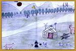 辽阔的草原儿童画