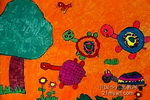龟兄弟赛跑儿童画图片