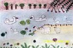 快活的小鸭儿童画