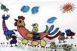 妈妈是摇蓝儿童画作品欣赏