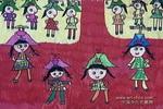 模特儿儿童水彩画