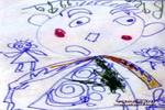 小皇帝儿童画作品欣赏
