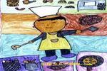 餐厅大厨儿童画