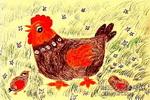 老鸡与小鸡儿童画图片