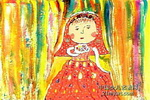 王老师做了新娘儿童画作品欣赏