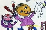 我爱吃糖葫芦儿童水彩画