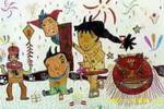 快乐的春节儿童画