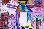 我是小巨人儿童水彩画