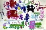 热闹的大街儿童画2幅