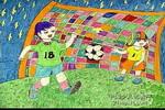 赛场上儿童画图片