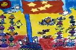 升国旗仪式儿童画