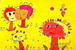 小树苗儿童画作品欣赏