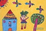 请到我这儿来儿童画作品欣赏