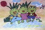 夏日欢歌儿童画