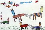 驴妈妈和孩子们儿童画图片