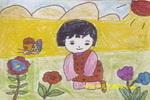 花儿真美儿童画