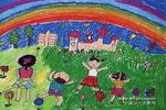 看彩虹儿童画作品欣赏