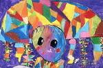 我的花帽子儿童画作品欣赏