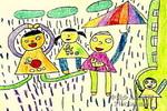雨淋不到我儿童画作品欣赏