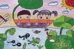 池塘里的秘密儿童画图片