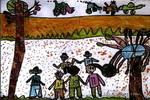 踢足球儿童画4幅