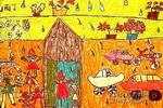 下雨了儿童画9幅