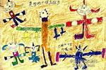 奥特战士保卫祖国儿童画作品欣赏