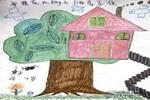 我想在大树上建房子住儿童画作品欣赏