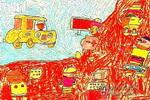 未来的城市儿童画2幅