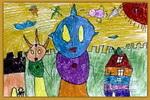 泰罗和赛文儿童画