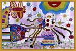 春天的故事儿童画2幅